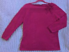 Ann Taylor 100% cashmere purple boat neck sweater size M