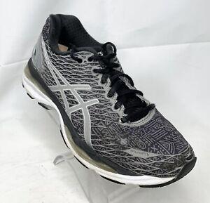 Asics Gel Nimbus 18 Womens Athletic Shoes Running Walking Training Black Size 7
