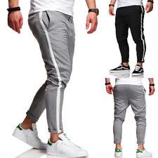 Herren Hose Chinohose Skinny Crop Fit Chino Cargo Jeans Grau/Schwarz/Beige NEU