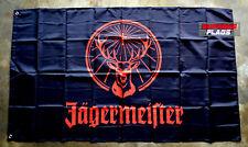 Jagermeister Flag Banner 3x5 ft Car Wall Garage Drink Promo Advertising Black