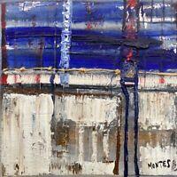 Abstrakte Komposition mit Blautönen Montes 2003 Galerie Kopenhagen Modern Art 2