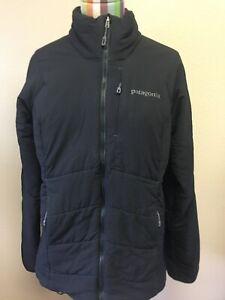 Patagonia Women's Jacket Coat Black Medium Lightweight Packable Fireball Logo