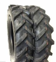 TWO 6.00-14, 6-14 R1 TRACTOR TIRE LUG DEMOLITION SET OF 2 TIRES IMPLEMENT