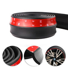 100 Inch Rubber Foam Front Bumper Lip Splitter Spoiler Trim EZ Install Black NEW