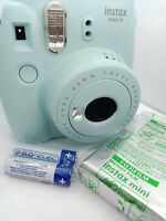Fujifilm Instax MINI 9 Instant Camera - Ice Blue - with 10 shots Film Pack