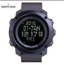 UK Mens Black tactical LED digital shock proof  Sports watch By North Edge.