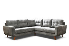 aurora corner sofa suite settee couch grey fabric 3+2 seater, armchair available