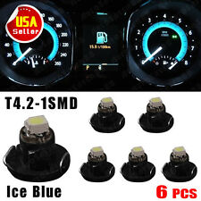 6x Iceblue T4/T4.2 Neo Wedge LED Bulb Cluster Instrument Dash Climate Base Light