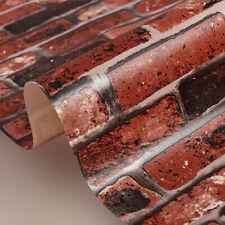 2 Roll 3D Wallpaper Self-Adhesive Rustic Brick Stone Contact Paper Waterpr