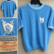 Vintage Casuals Of Creslan Ringer Shirt W/ Graphics Of Knight Crest Coat Of Arms
