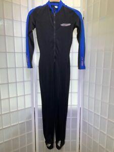 Henderson Aquatics Mens Hot Skins Wetsuit Black Blue Color Block Full Zip S