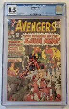 AVENGERS #5 CGC 8.5 OW/W MARVEL COMICS 1964 HULK AND LAVA MEN APP. NO RESERVE!