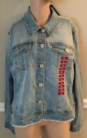 Nine West Sarah Windham (Lt Blue) Denim Jean Jacket Size XL NWT