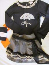 NWT 7 Trish Scully Paris Shirt Herringbone Skirt Gymboree Tights Boutique
