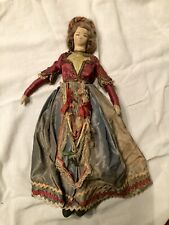 Antique Boudoir Cloth Doll With Victorian Era Clothing