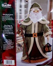 "Bucilla ""OLD WORLD SANTA"" Felt 3-D Christmas Centerpiece Kit Toys NIP OOP RARE"