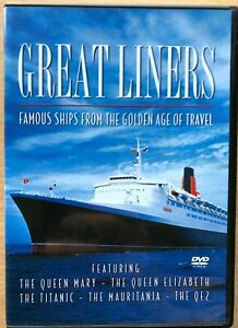 Great Liners DVD Queen Mary Elizabeth Titanic QE2 Cruise Documentary