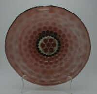 Antique Fenton? Coin Dot Amethyst Iridescent Carnival Glass Bowl Early 1900's