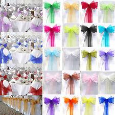 100x Organza Schleifenbänder Dekostoff Stuhlschleifen Banquet Schleifen Hochzeit