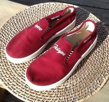 FEIYUE 23 EU BOY YOUTH DEEP RED CRUISE SUMMER CAMP SPRING BEACH POOL LOAFER SHOE