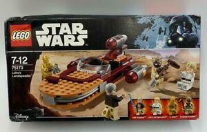 Lego Star Wars Luke's Landspeeder 75173 Kenobi Skywalker C3-PO BN Damage to Box