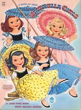 Vintage 1956 Umbrella Girls Paper Doll Pretty~Laser Reproduction~Uncut Best Qu