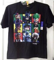 Boys Lego Batman Movie Black T Shirt Top Size 14 16 18 Joker Riddler Batgirl