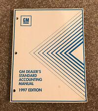 Vintage General Motors Dealer Chevrolet GM Dealership ACCOUNTING MANUAL 1997