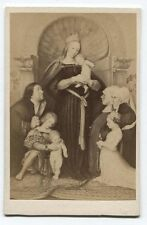 ANTIQUE CDV PHOTOGRAPH OF PAINTING, DARMSTADT MADONNA BY HANS HOLBEIN THE YOUNG