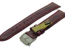 # l050 # Orologi braccialetto pelle imitazioni bracelet Alligator Leather 18 mm