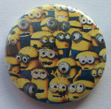 BUY 2 & GET 1 FREE - Minions 25mm 1'' Pin Button Badge - Despicable Me Retro