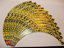 DEEMAX ULTIMATE STYLE MAVIC BLACK & YELLOW RIM DECAL SETS for two wheels