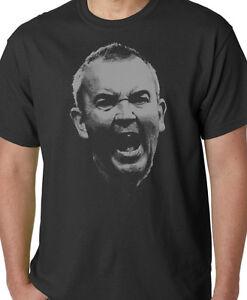 PHIL TAYLOR Darts Legend Mens Organic Cotton T-Shirt Casual Top Gift Eco Black