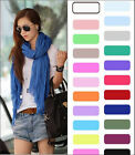 Fashion Candy Pure Girls Womens Long Crinkle Soft Scarf Wrap Voile Wraps Shawl
