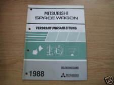 Wiring Instructions Mitsubishi Space Wagon, 1988