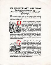 1926 American Telephone & Telegraph 50th Anniversary Greeting Stockholder Pamphl