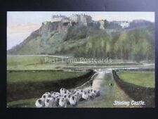 Scotland: Stirling Castle showing herd of Sheep c1906 by J.W.B. No.306