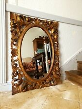 More details for french mirror,  gilt baroque style mirror