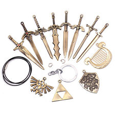 The Legend of Zelda Hylian Shield Sword Keychain Pendant Necklace 12 pcs in Box