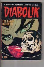 fumetto DIABOLIK ANNO XIX numero 7