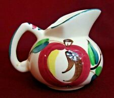 Purinton Slip Ware Pottery Mid Century Modern Apple Pattern MILK SYRUP PITCHER