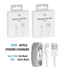 OEM iPhone/iPad Lightning USB Cable Charge 3/6/10 FT OEM Apple X 8 7 6 5 Plus 11