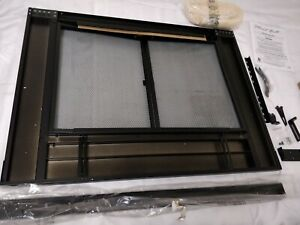 See Notes - Pleasant Hearth AN-1010 Alpine Fireplace Glass Door, Black, Small