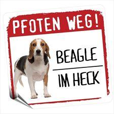 Auto Aufkleber REFLECTIVE BEAGLE 1 PFOTEN WEG Hunde BY SIVIWONDER