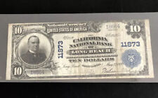 1902-$10Pb-the California Nb of Long Beach-Ca-in Vf Condition-A rare note fr Ca.