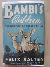 BAMBI'S CHILDREN~Felix Salten~FOREST FAMILY~1939 HC~KURT WIESE~Erna Pinner~