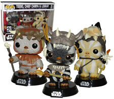 Star Wars Teebo, Chief Chirpa & Logray Pop Vinyl 3 pack Exclusive - New in stock