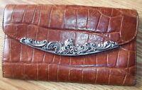 Brighton Brown Croco Leather Large Fullsize Wallet