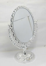 1X New Pedestal Oval Makeup Mirror Double Sided