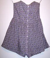 Fire Los Angeles Shorts S Purple Strapless Romper Mini Dress Shorts Underneath